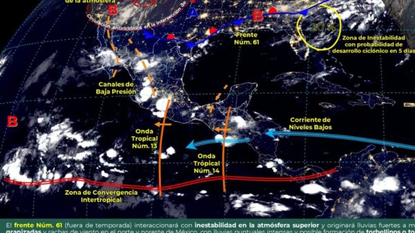 Quintana Roo: Pronóstico del clima para hoy miércoles 21 de julio.