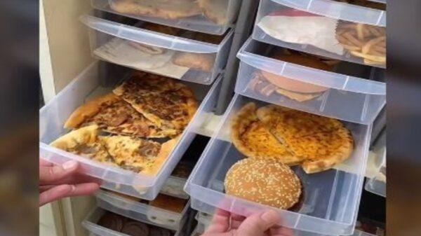 Un video relacionado a la comida rápida debido a que muestra cómo a pesar de tener varios años guardada sigue intacta