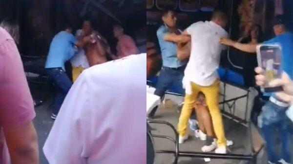 El video de un sujeto que fue golpeado en una chelería por cuatro hombres gana popularidad en redes sociales