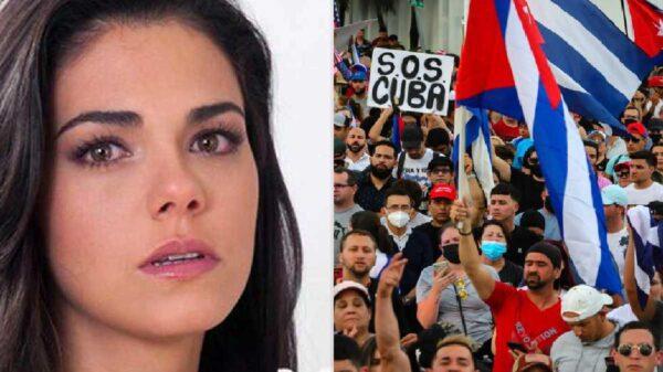 Livia Brito rompe en llanto al hablar de su familia y la situación que se vive en Cuba