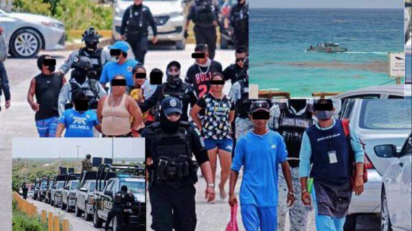 Decomisan armas y drogas en playas de Cancún tras operativo conjunto