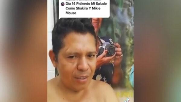 En TikTok el usuario Juan Carlos Domínguez, gana popularidad al cantar igual que Shakira