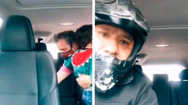 Se viraliza un video en donde fue captado el momento en que un usuario de esta red social fue despojado de su camionetas