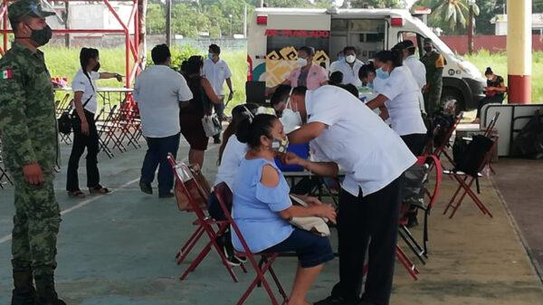 Buena participación en jornada de vacunación covid en Kantunilkín