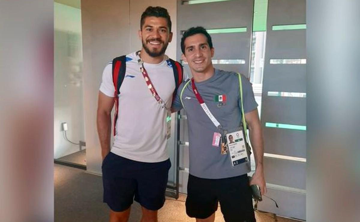 Henry Martin y Rommel Pacheco representando Yucatán en los Juegos Olímpicos Tokio 2020