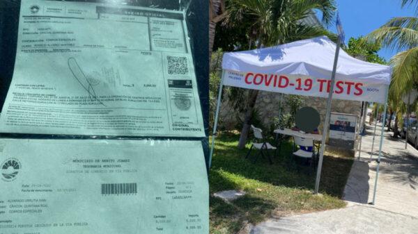CUIDADO: Módulos de pruebas Covid operan sin permisos en Zona Hotelera de Cancún