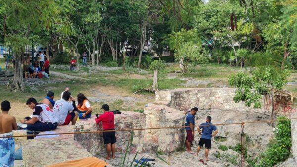 Onésimo continúan desaparecido dentro de un cenote en Cancún