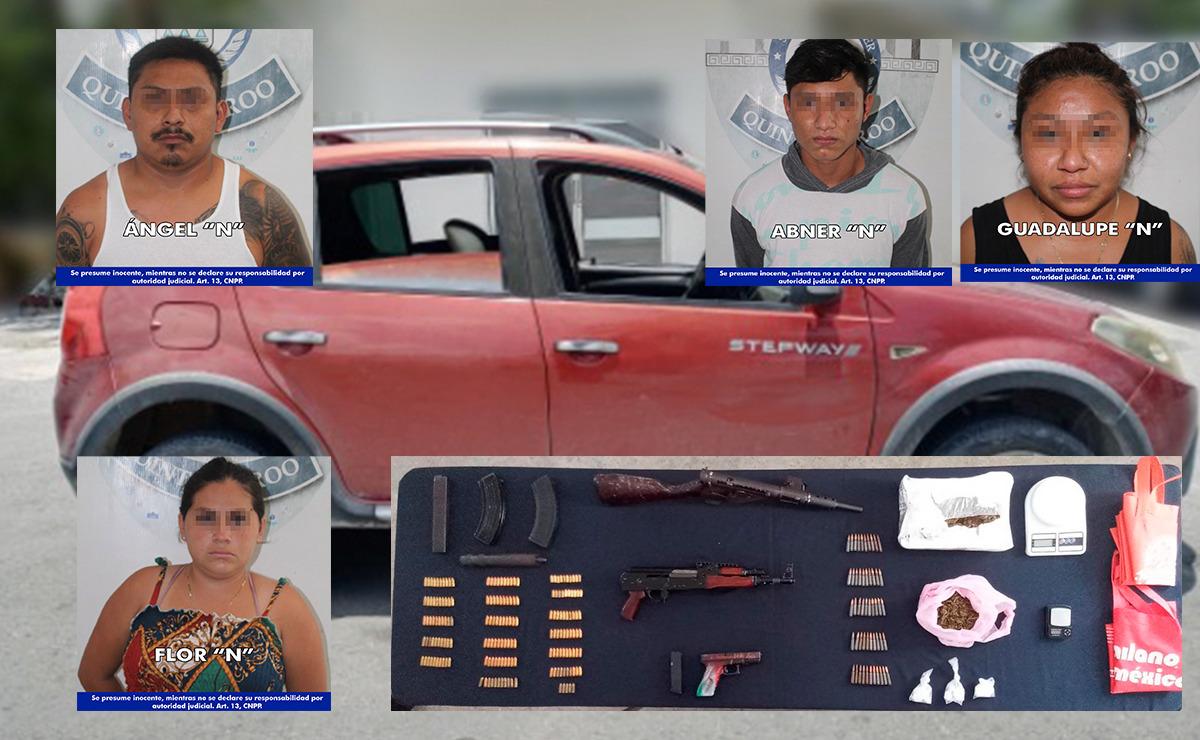 Cancún: Cae grupo de personas fuertemente armadas en la SM 227