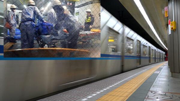 Desquiciado acuchilla a 10 personas en subterráneo de Tokyo