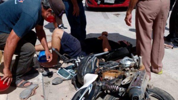 Turistas italianos atropellan a motociclista en el centro de Izamal