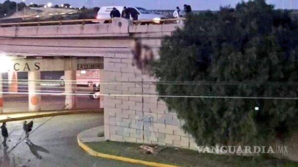 ¡Otra vez! En Zacatecas dejan colgados seis cuerpos en puente