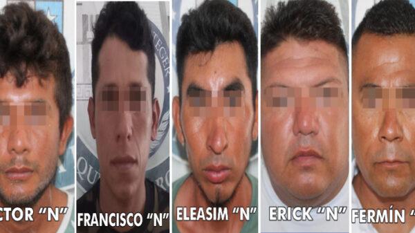 Detienen a cinco narcomenudistas en la zona de Isla Blanca.
