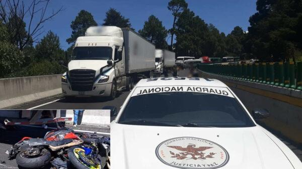 Embiste tráiler a convoy de motociclista; mueren siente