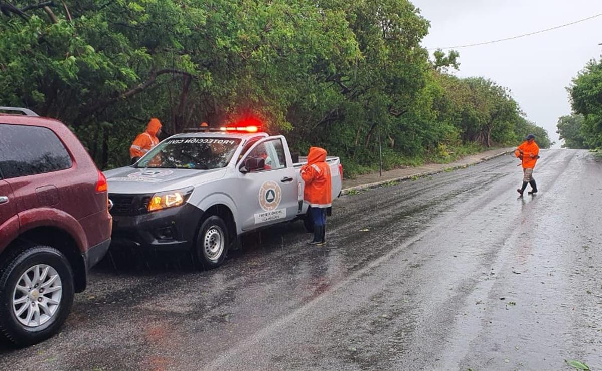 Inundaciones por Grace en Isla Mujeres