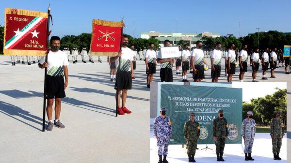 Inauguran juegos Deportivos Militares en Quintana Roo