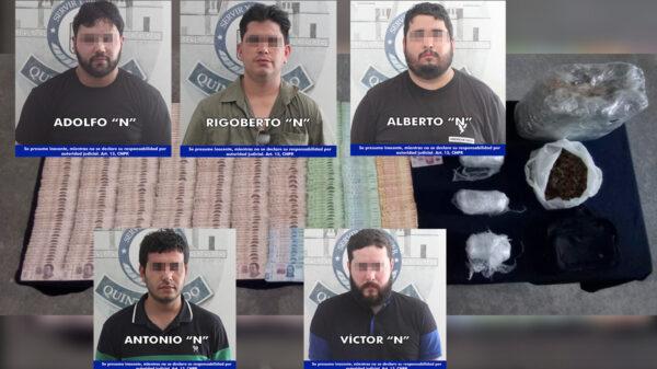 En operativo anti covid, cae grupo de presuntos narcomenudistas