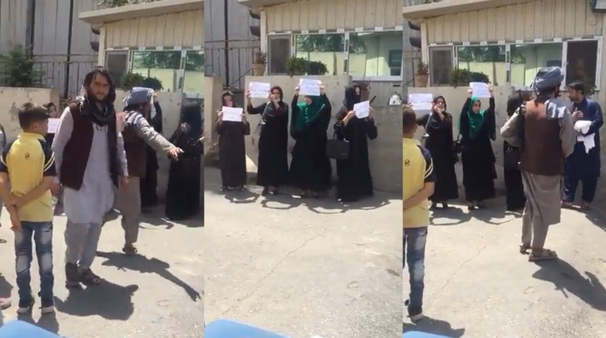Inédito, mujeres afganas reclaman a talibanes igualdad de derechos