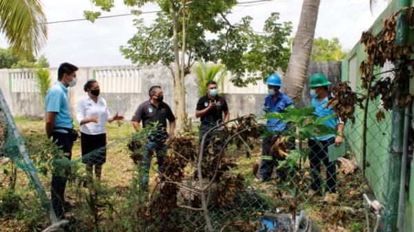 Continúan trabajos de recuperación de escuelas en Puerto Morelos