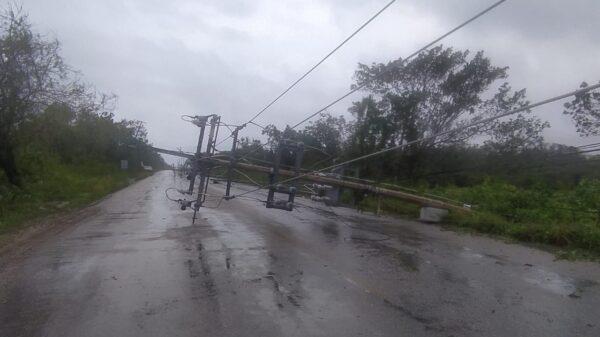 Grace deja fuertes daños en el sur de Cozumel