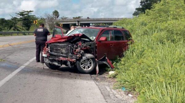 Mujer termina con fracturas tras fuerte choque en la vía Mérida-Tizimín