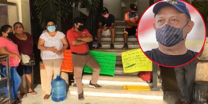 FCP: Trabajadores en paro exigen auditoria al edil José Esquivel.