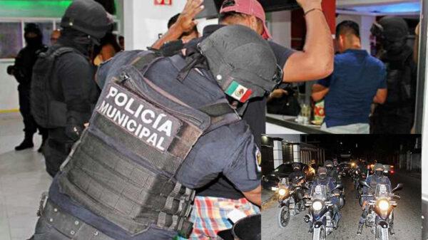Policía Quintana Roo y Semar realizan operativo nocturno en bares