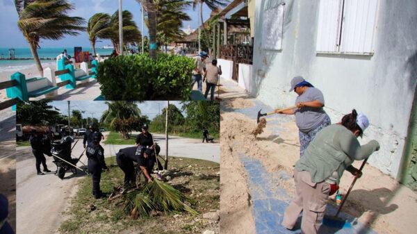 Implementa gobierno de Puerto Morelos mega operativo de limpieza
