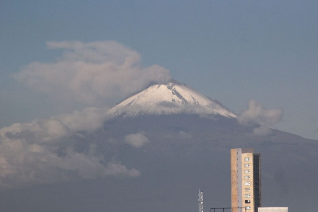 Volcán Popocatépetlregistró explosión durante la madrugada