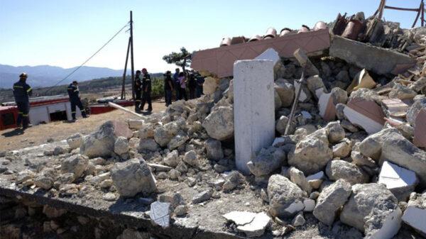 Sismo de 5.8 sacude la isla griega de Creta, dejan un muerto y varios heridos