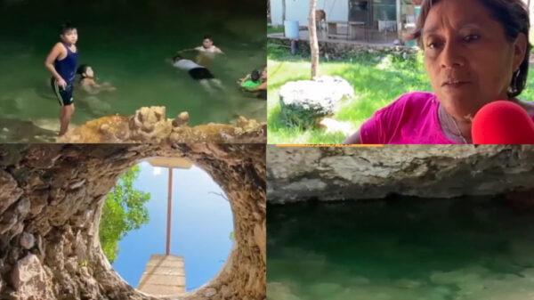 Familia de Yucatán encuentra cenote en el patio de su casa