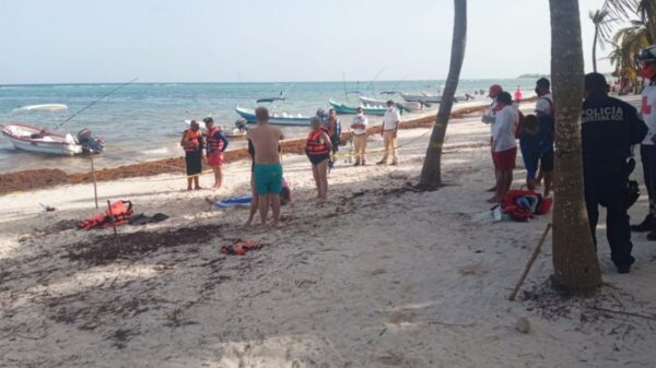 Dos turistas mueren ahogados en playas de Tulum.