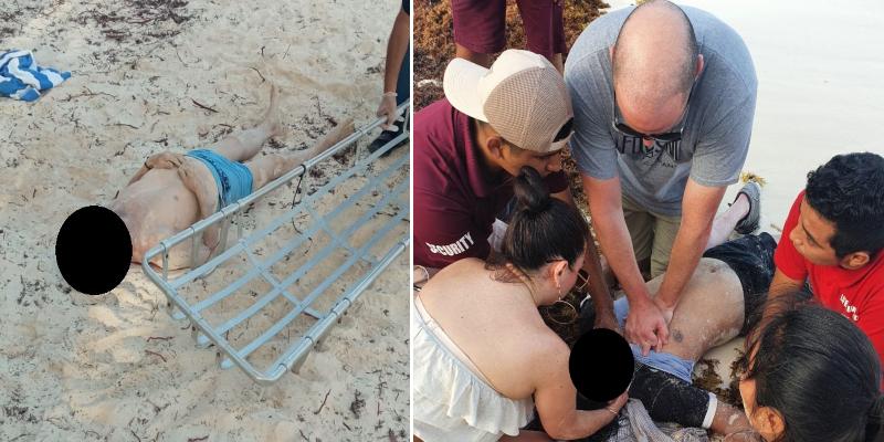 Dos turistas mueren ahogados en playas de Tulum; con minutos de diferencia ocurrieron las tragedias. Una de las víctimas era un turista.