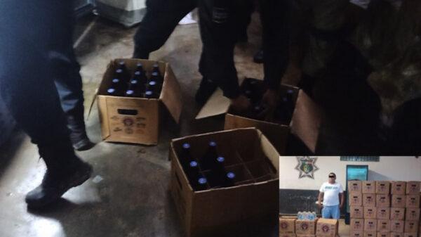 En Tizimín, 'cachan' a sujeto vendiendo bebidas embriagantes sin permiso