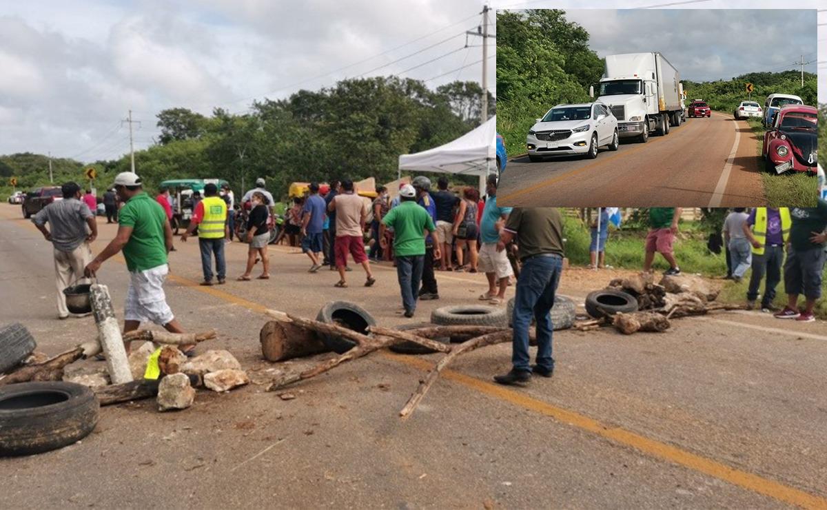 Empleados municipales de JMM endurecen bloqueo carretero
