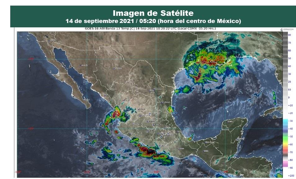 Pronóstico del clima para hoy martes 14 de septiembre en Quintana Roo; cielo parcialmente nublado con posibilidades de lluvias aisladas.