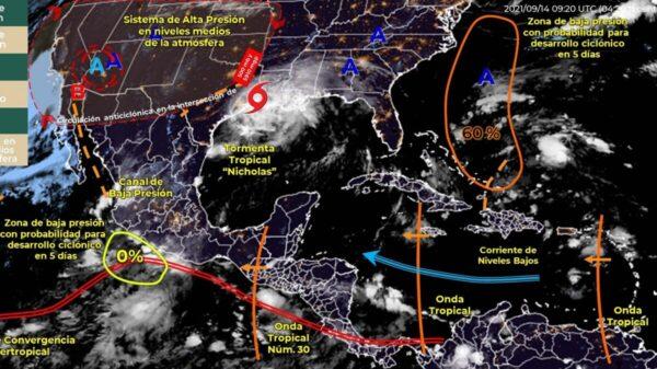 Pronóstico del clima para hoy martes 14 de septiembre en Quintana Roo.