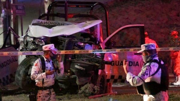 Seis lesionados deja el choque de una patrulla de la Guardia Nacional