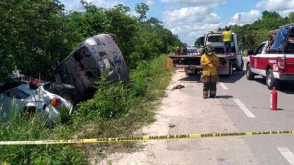 Cancún: Brutal choque deja saldo de un muerto y tres lesionados