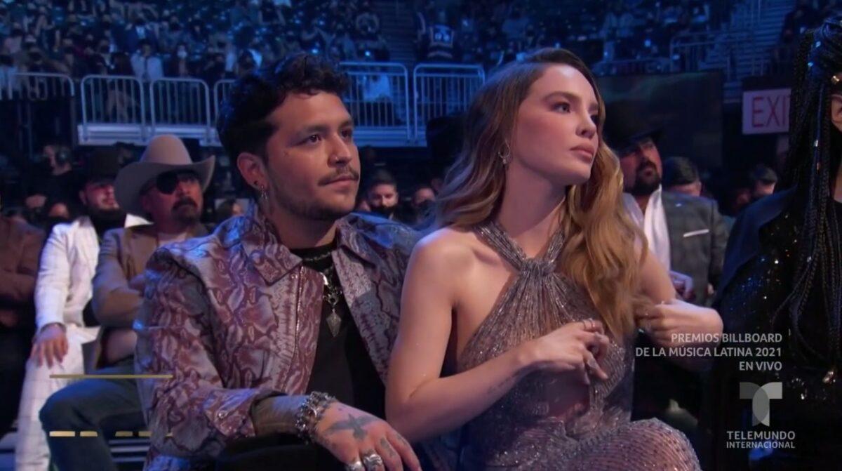 Christian Nodal protagoniza escena de 'celos' por Belinda en Premios Billboard