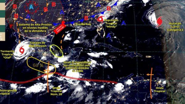 Pronóstico del clima para hoy jueves 9 de septiembre en Quintana Roo.