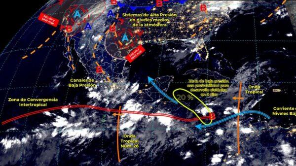 Pronóstico del clima para hoy miércoles 1 de septiembre en Quintana Roo.