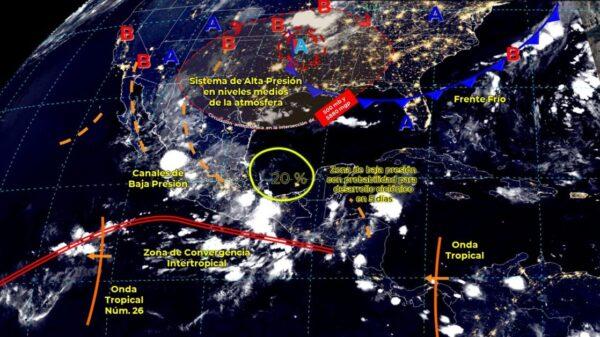 Pronóstico del clima para hoy viernes 3 de septiembre en Quintana Roo.