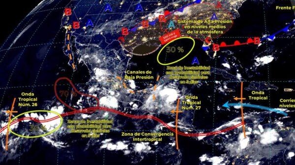 Clima: Pronostican lluvias fuertes hoy domingo en Quintana Roo.