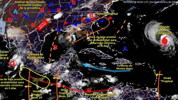 Pronóstico del clima para hoy miércoles en Quintana Roo.