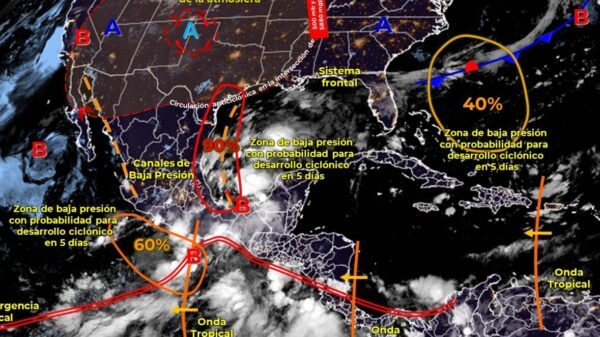 Pronóstico del clima para hoy domingo 12 de septiembre en Quintana Roo.