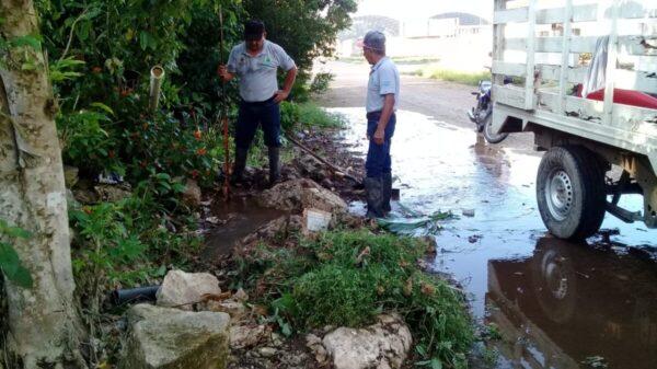 Habitantes de Kantunilkín se quedan sin agua por una fuga