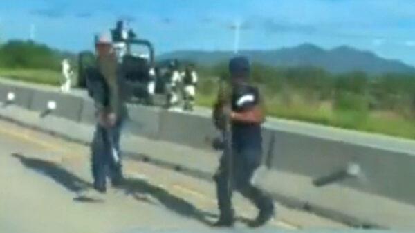 Video: Guardia Nacional deja escapar a sicarios fuertemente armados