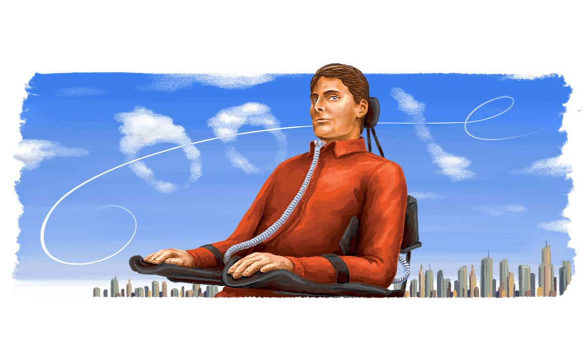 Google realiza homenaje a Christopher Reeve en su doodle