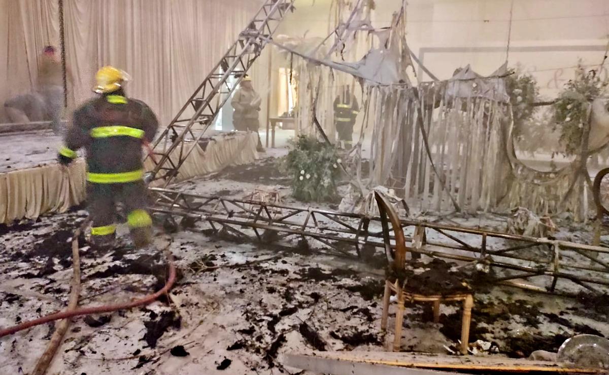 """Video: Boda se pone """"caliente"""" y termina en incendio"""