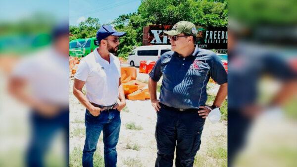 En entrevista con Luis Alegre, confirma Jiménez Pons construcción de un viaducto en Playa del Carmen